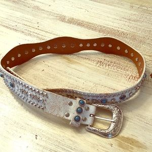 Accessories - Leather Studded Belt